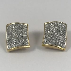 Stunning Vintage Swarovski Clip On Earrings